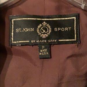 St.John Sport chocolate brown linen jkt sz P